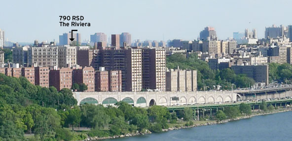 Snapshot of the our neighborhood from the George Washington Bridge, 2010.